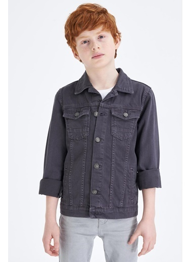 DeFacto Erkek Çocuk Western Jean Ceket Antrasit